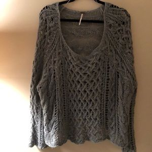 Green Free People sweater